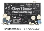 online marketing with business... | Shutterstock . vector #177209669