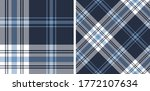 plaid pattern vector in blue... | Shutterstock .eps vector #1772107634