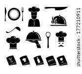 kitchen vector icons | Shutterstock .eps vector #177210911