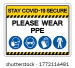 stay covid 19 secure please...   Shutterstock .eps vector #1772116481