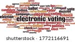 electronic voting word cloud... | Shutterstock .eps vector #1772116691