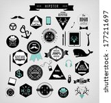 hipster style elements  icons... | Shutterstock . vector #177211697