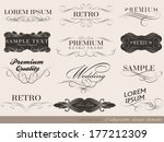 calligraphic design elements... | Shutterstock . vector #177212309