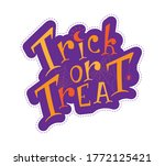 colorful trick or treat phrase... | Shutterstock .eps vector #1772125421