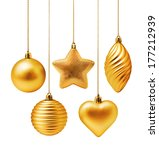 Golden Christmas Decoration...