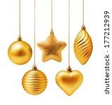 Golden Christmas Decoration...
