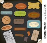 set of retro vintage labels. | Shutterstock . vector #177213845