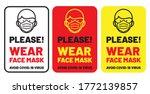 please wear a face mask avoid... | Shutterstock .eps vector #1772139857