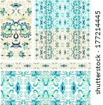 set of laced  decorative... | Shutterstock .eps vector #177214445