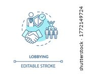 Lobbying Turquoise Concept Icon....