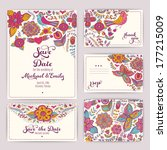 printable wedding invitation... | Shutterstock .eps vector #177215009