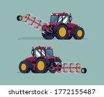 Modern Four Wheel Drive Tractor ...