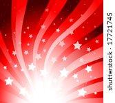 red star burst background | Shutterstock .eps vector #17721745