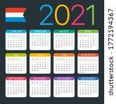 2021 calendar   vector template ... | Shutterstock .eps vector #1772194367