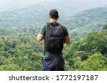 back view of asian traveler...   Shutterstock . vector #1772197187