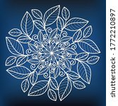 Template Of  Leaf Mandala For...