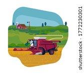 arable field scenery with heavy ... | Shutterstock .eps vector #1772230301