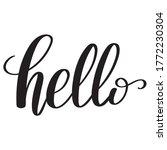 hand drawn brush pen hello sign ... | Shutterstock .eps vector #1772230304