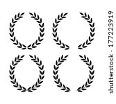 laurel wreaths | Shutterstock . vector #177223919