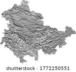 black and white 3d contour... | Shutterstock .eps vector #1772250551