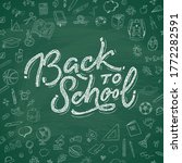 back to school text drawing by... | Shutterstock .eps vector #1772282591