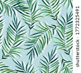seamless pattern with palm... | Shutterstock . vector #1772325491