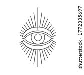 the third eye. can be used as... | Shutterstock .eps vector #1772335697