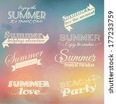 retro summer elements | Shutterstock .eps vector #177233759