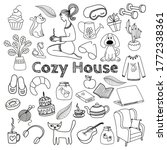 large set of cozy home icons.... | Shutterstock .eps vector #1772338361