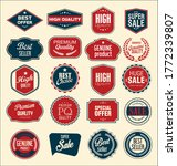 retro vintage sale badges and... | Shutterstock . vector #1772339807