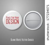 blank vector white badge with... | Shutterstock .eps vector #177234071