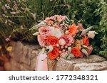 Wedding Bouquet Close Up Lies...
