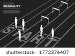 silhouette hurdles obstacle in...   Shutterstock .eps vector #1772376407