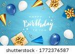 lettering happy birthday on... | Shutterstock .eps vector #1772376587