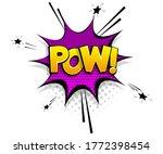 Comic Text Pow On Speech Bubble ...