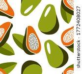 modern seamless pattern. orange ... | Shutterstock .eps vector #1772408027