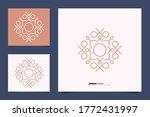 ornament logo design minimalist ...   Shutterstock .eps vector #1772431997