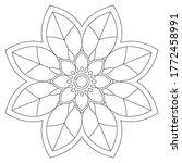 easy mandalas coloring book... | Shutterstock .eps vector #1772458991