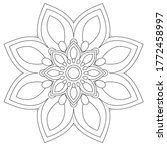 easy mandalas coloring book... | Shutterstock .eps vector #1772458997