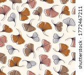 ginkgo biloba leaves seamless...   Shutterstock .eps vector #1772467211