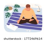 calm male in lotus position...   Shutterstock .eps vector #1772469614