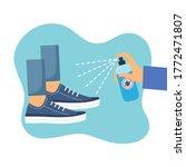 hand holding disinfecting...   Shutterstock .eps vector #1772471807