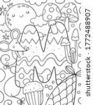 coloring page alphabet for kids ... | Shutterstock .eps vector #1772488907