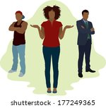 african american woman choosing ... | Shutterstock .eps vector #177249365