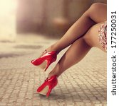 red shoes  | Shutterstock . vector #177250031