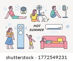 hot summer people are feeling...   Shutterstock .eps vector #1772549231