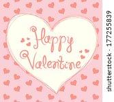 valentine card | Shutterstock .eps vector #177255839