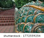 Small photo of Beautiful Molding of Praya Nark in Doi Suthep Temple.
