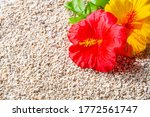 Artificial Hibiscus Flowers On...