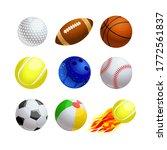 set of cartoon balls for sport... | Shutterstock .eps vector #1772561837